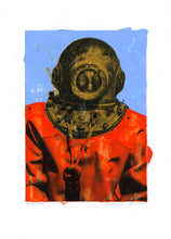Load image into Gallery viewer, Genuine Painting. Diver in Kalymnos #9.