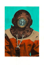 Load image into Gallery viewer, Genuine Painting. Diver in Kalymnos #11.