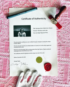 Limited Edition Certificate of Authenticity