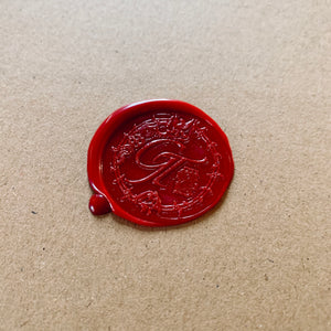 Unique wax seal for limited edition prints by photographer George Tatakis