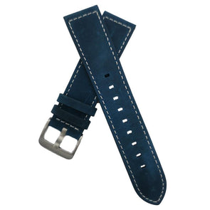 Peacock Blue Leather Strap