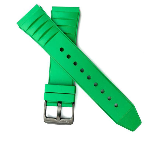 Green Fluoro Rubber Strap
