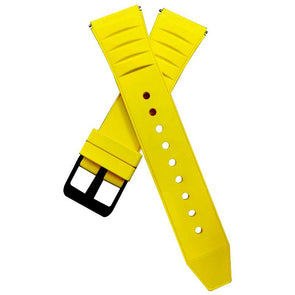 Yellow Fluoro Rubber Strap