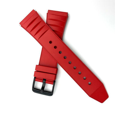 Red Fluoro Rubber Strap