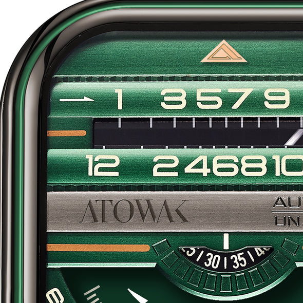 Atowak Windows Pro Green Dial Classic Man's Automatic Watch