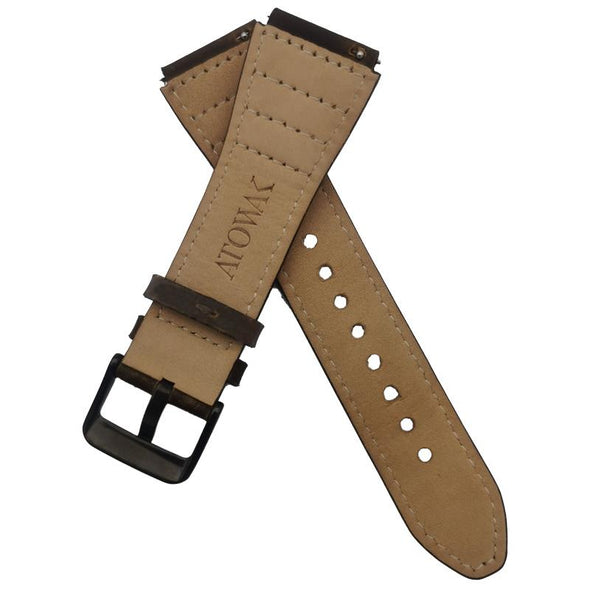 Brown Leather Strap With Brown Stitching
