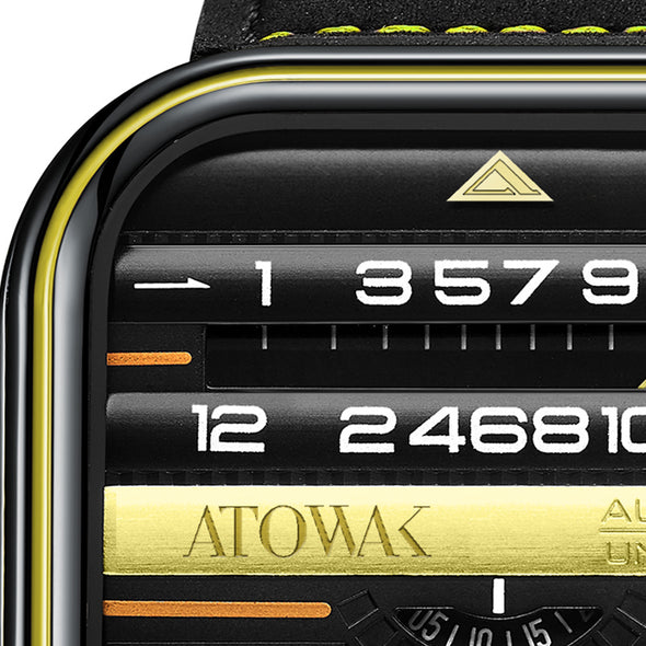 Atowak Windows Pro Black-yellow Dial Classic Man's Automatic Watch