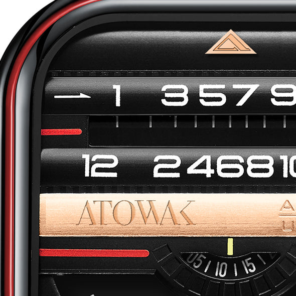 Atowak Windows Pro Black-red Dial Classic Man's Automatic Watch