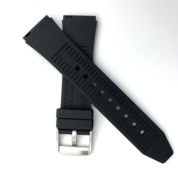 Black Fluoro Rubber Strap