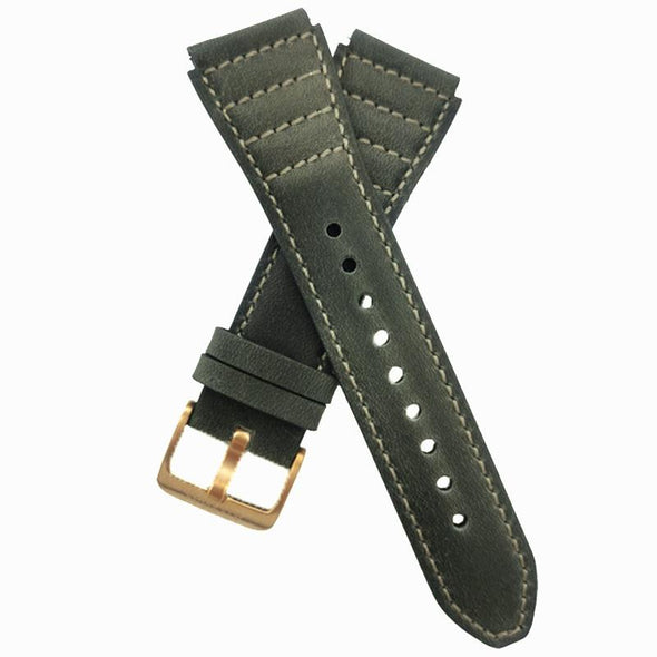 Gray Leather Strap With Gray Stitching
