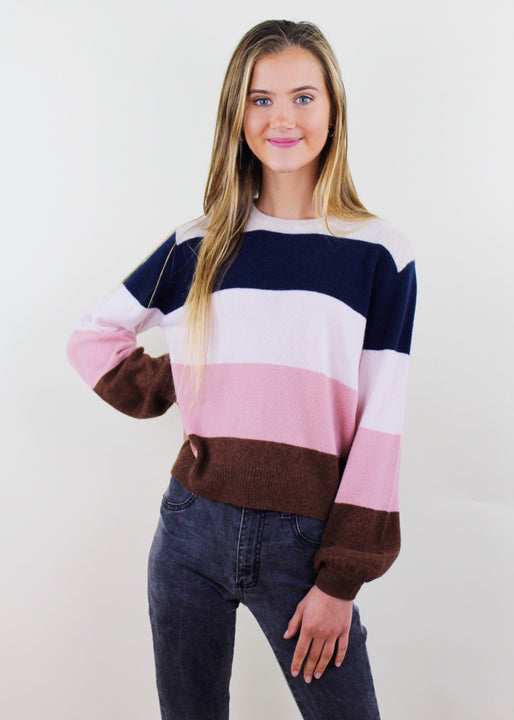 Cashmere Ryann Striped Sweater