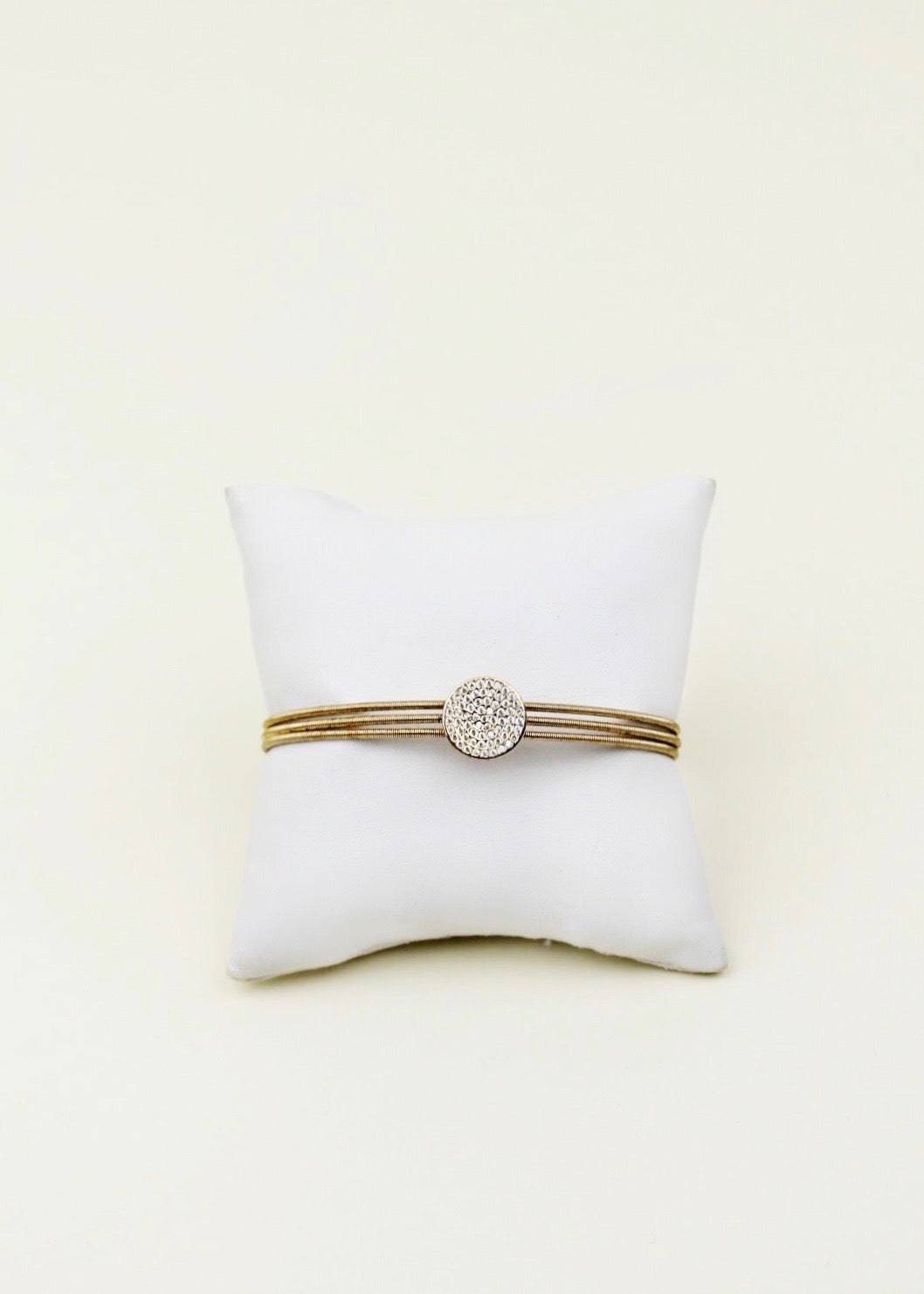 Bella Cavo Gold Bracelet with Diamond Detail