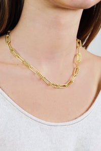 Gold OMG Paper Clip Necklace