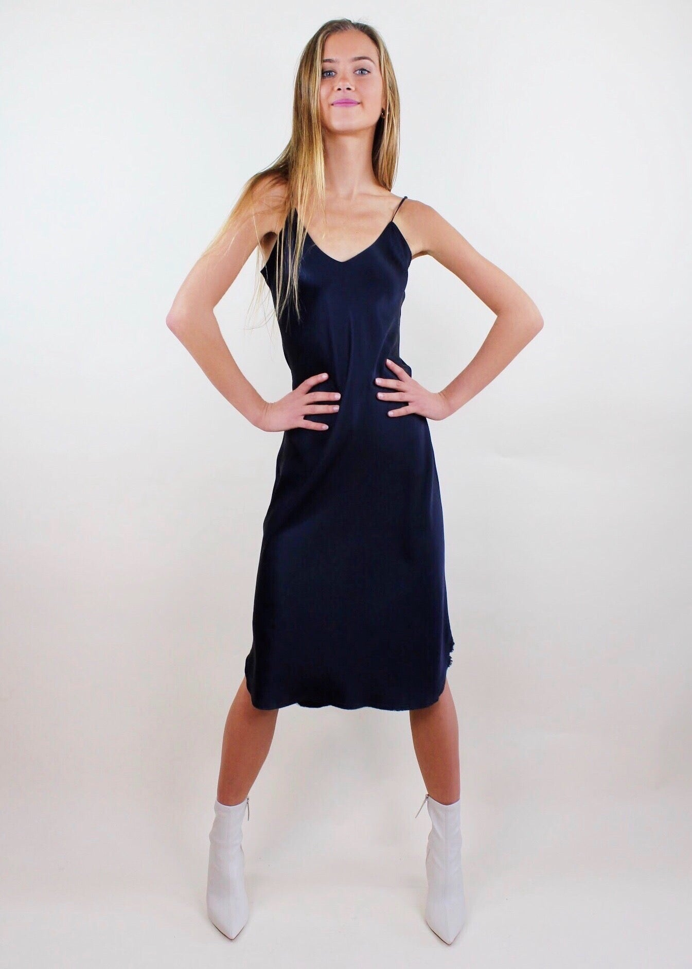 Junie Dress in Navy