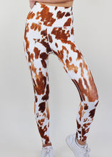 Load image into Gallery viewer, Brown Cowhide High Waist Legging