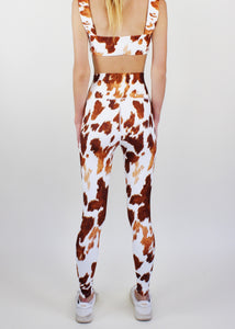 Brown Cowhide High Waist Legging
