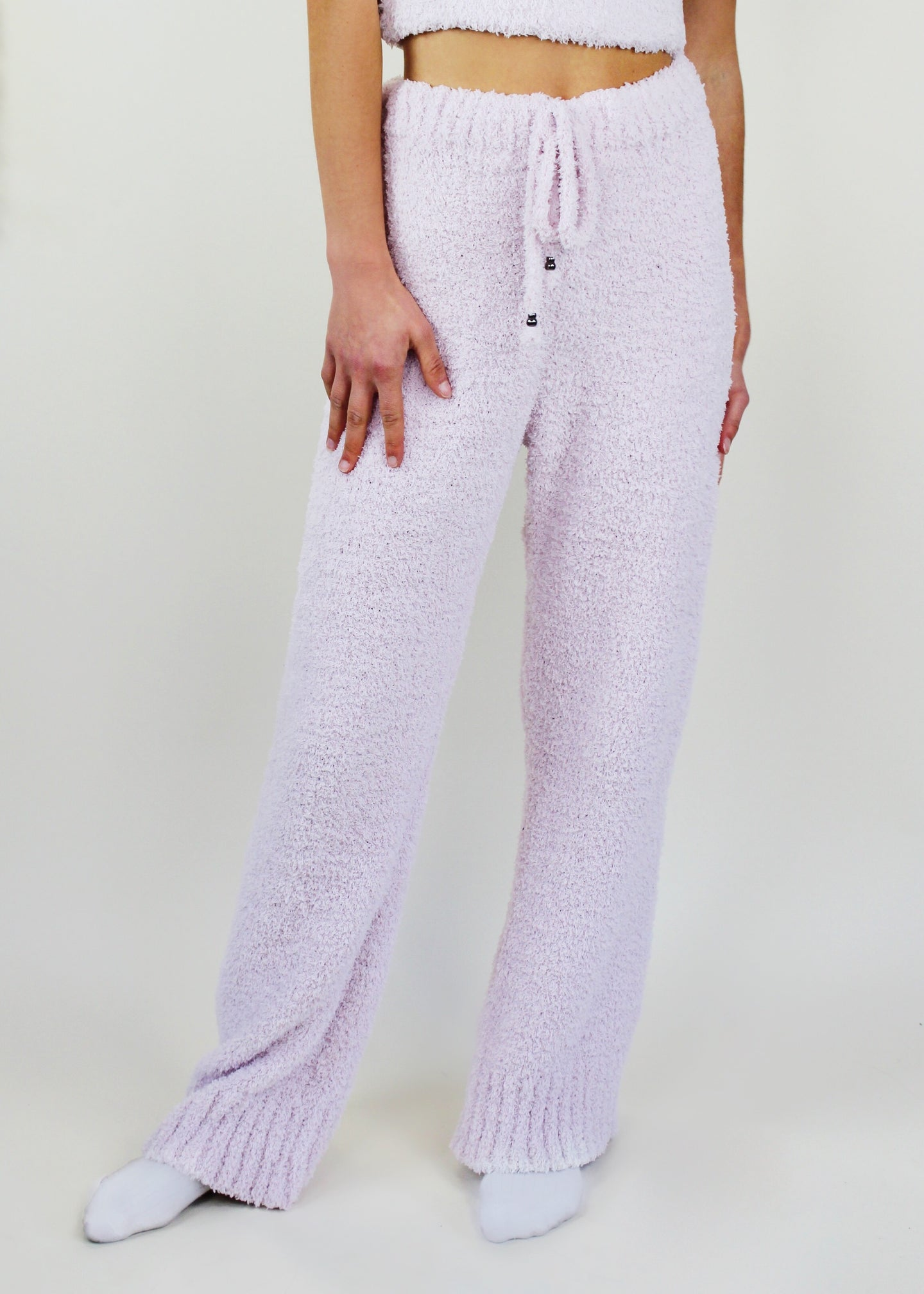 Powder Pink Fuzzy Pant