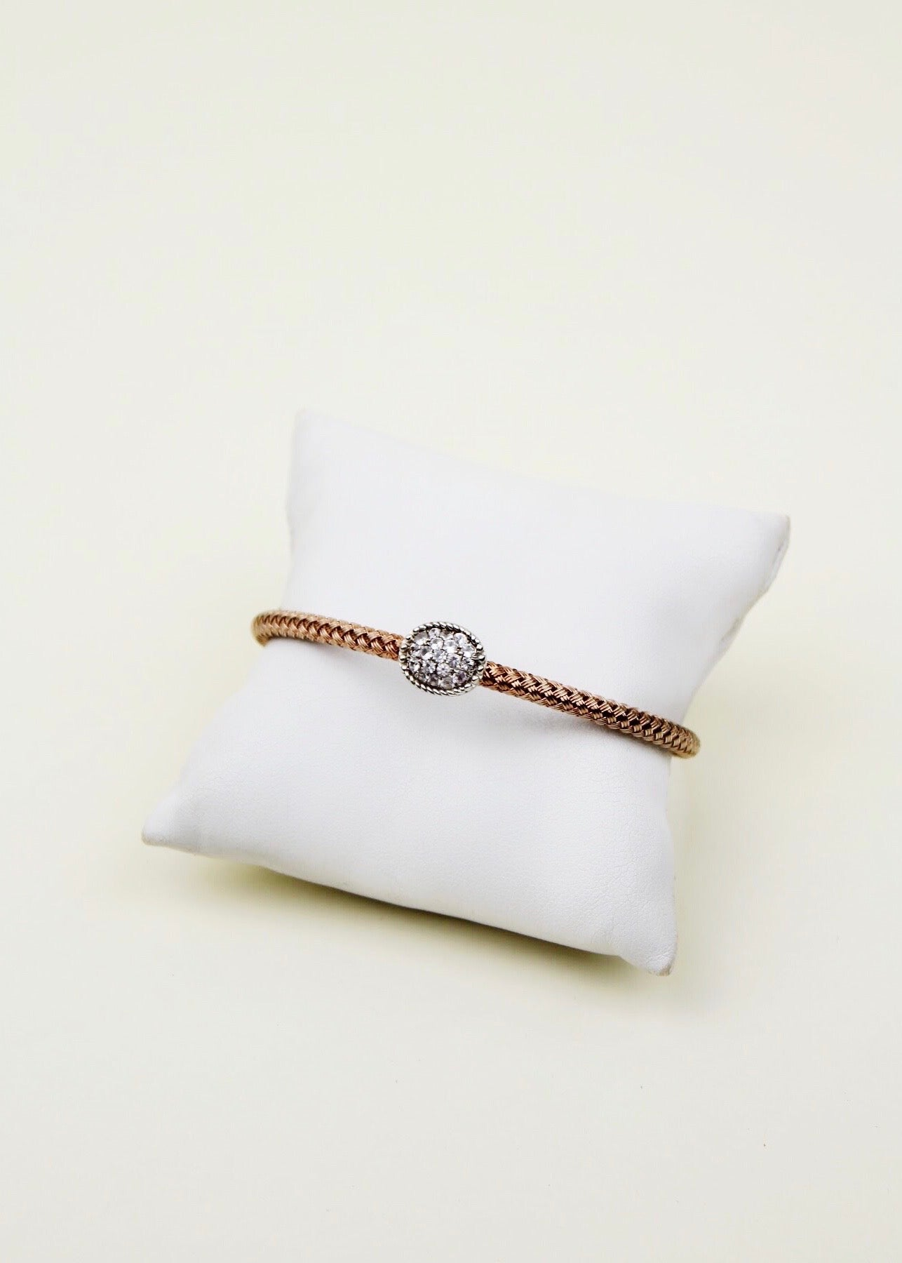 Rose Braided Cuff Bracelet