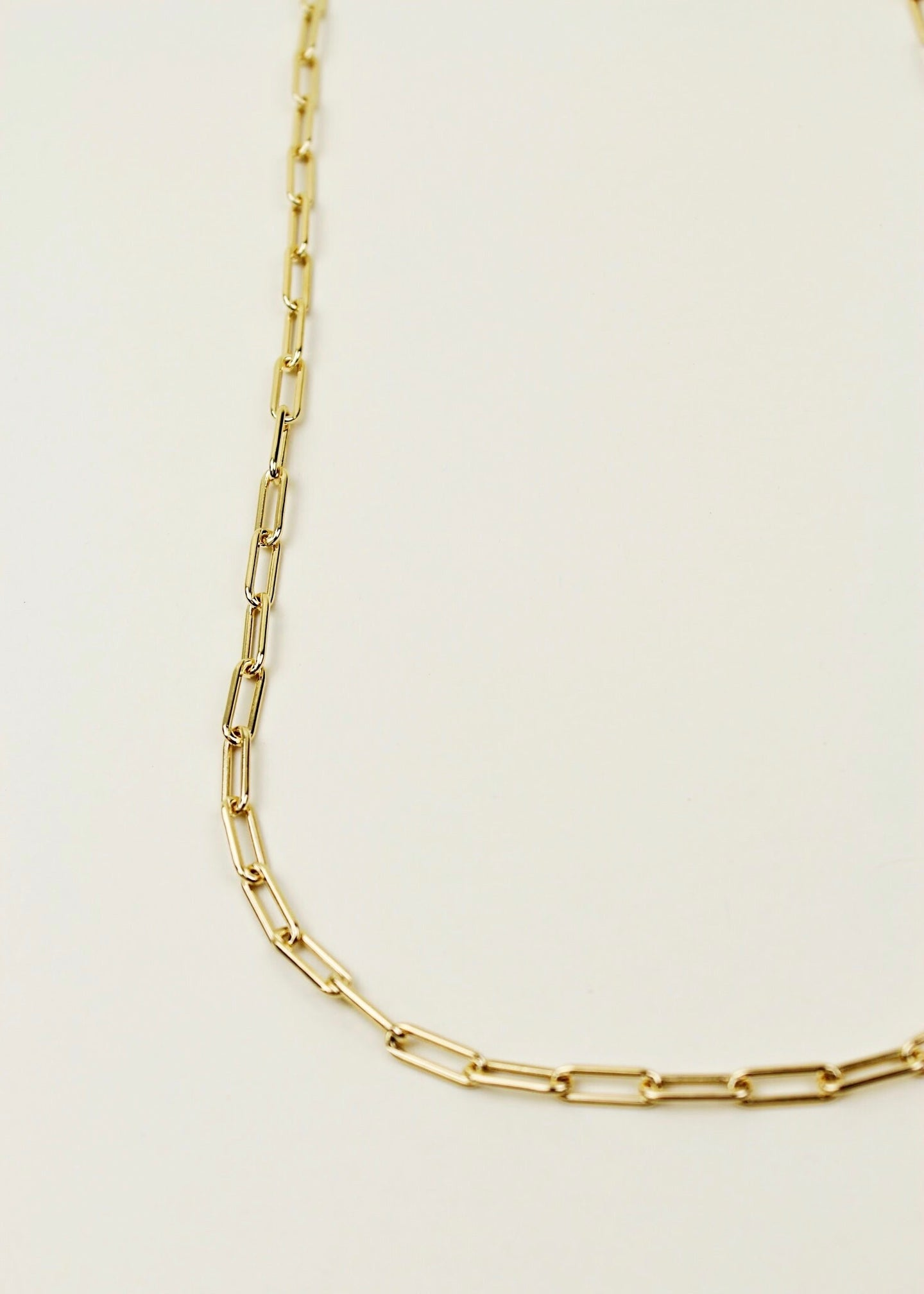 Gold Plated Paper Clip Chain