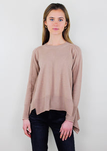Beige Crew Neck Sweater