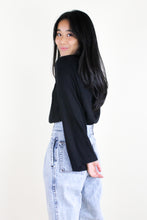 Load image into Gallery viewer, Bell Sleeve Elastic Neck Top Black