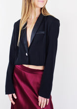 Load image into Gallery viewer, Black Cropped Blazer