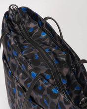 Load image into Gallery viewer, Bowery Quatro Tote-Blue Leopard
