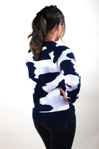 Navy Camo Sweater