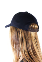 Load image into Gallery viewer, Navy Cashmere Cap