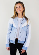 Load image into Gallery viewer, Denim Colorblock Willow Jacket
