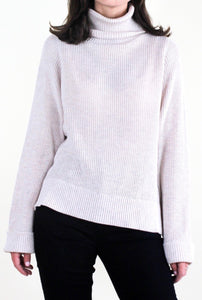 Reagan Light Oatmeal Turtleneck Sweater