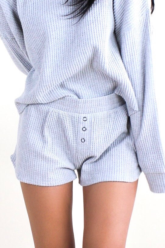 Starry Waffle Short Heather Grey