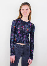 Load image into Gallery viewer, Black Floral Top
