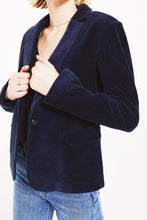 Load image into Gallery viewer, Navy Corduroy Blazer
