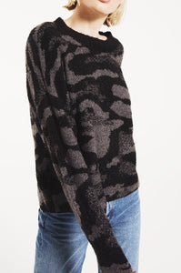 Bodrum Sweater Camo Charcoal