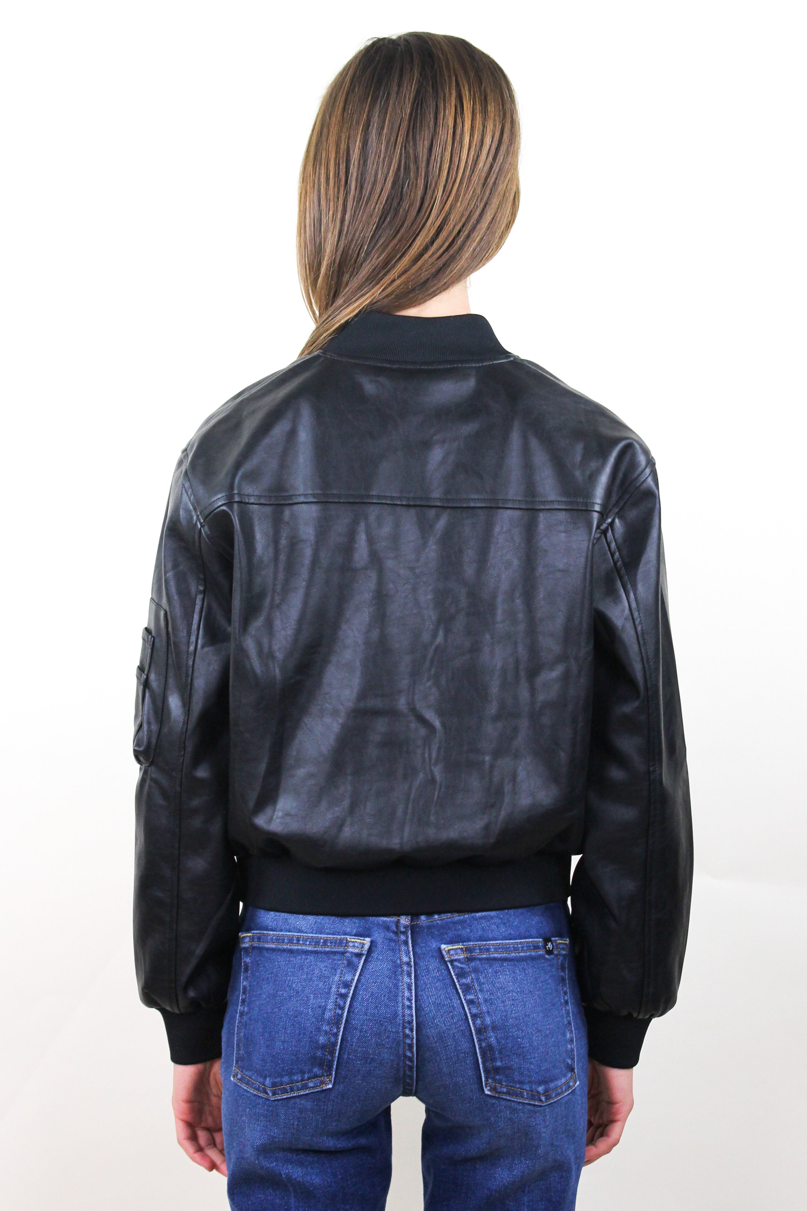 Joel Faux Leather Bomber
