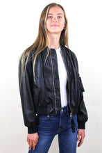 Load image into Gallery viewer, Joel Faux Leather Bomber