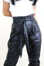 Load image into Gallery viewer, Faux Leather Belted Pant