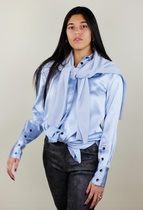 Satin Button Down Shirt