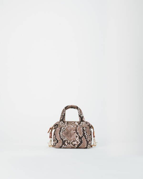Sutton Small Brown Snake Handbag