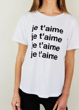 Load image into Gallery viewer, White Je Taime Tee