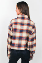 Load image into Gallery viewer, Oversized Crop Flannel