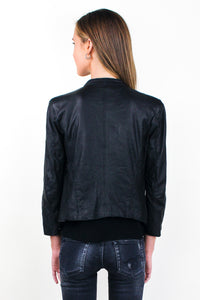 Cafe Racer Jacket in Black