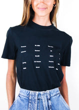 Load image into Gallery viewer, Elk White Text Tee in Black