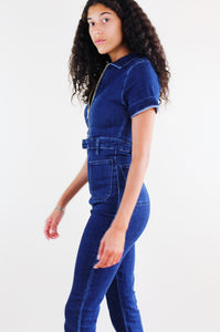 Medium Wash Denim Jumpsuit