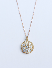 Load image into Gallery viewer, Gold Circle Stones Necklace