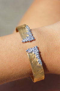 Gold Cuff with Silver Detail
