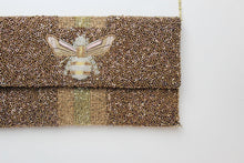 Load image into Gallery viewer, 3D Bee Beaded Clutch