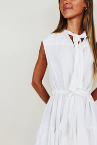 Nora Sleeveless Dress in White