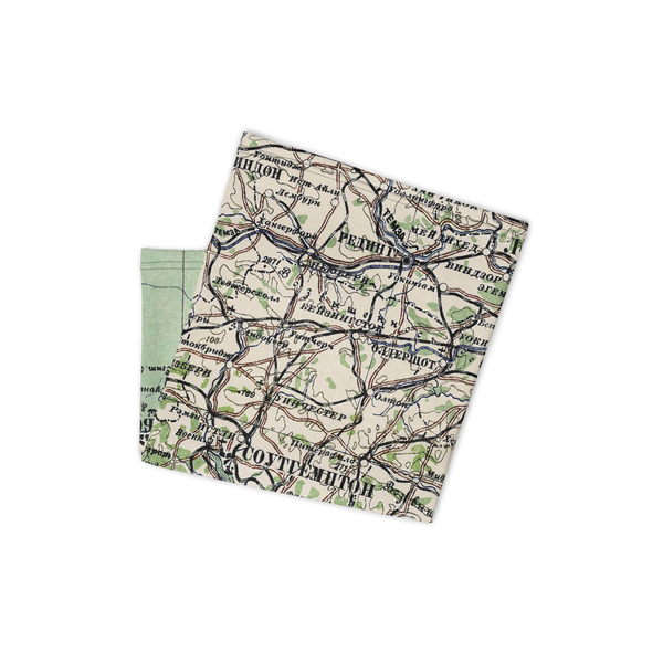 Neck Gaiter with Soviet map of England